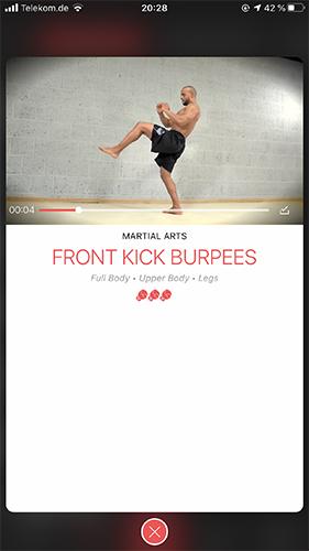 KampfsportSei ein Champion und erweitere deine Workouts mit Martial Arts Bewegungen.