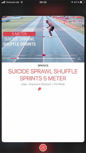 Sprint TrainingEine der wenigen Apps mit verschiedenen Linienlauf-Workouts.